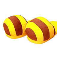Lovely Yellow Bee Wool Naisten Slide Slipper