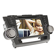 8Inch 2 DIN no painel do carro DVD Player para 2008-2012 Toyota Highlander com GPS, BT, IPOD, RDS, Touch Screen, TV