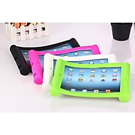 Solid Color Silicone Case with Stand for iPad2/3/4