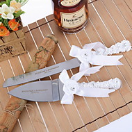 Serving Sets Wedding Cake Knife Personalized  Cake Serving Set with Flower and Rhinestone