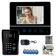"""7 """"video deurtelefoon deurbel intercom systeem Touch Panel deurvergrendeling RFID Keyfobs 1V1 Elektronische deurvergrendeling"""