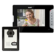7 tommer video dørtelefon dørklokken Intercom Kit 1-kamera 1-monitor Night Vision