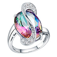 Ring Women's Crystal Brass / Platinum Plated Platinum Plated / Brass SilverColor & Style representation may vary by monitor. Not