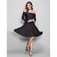 ts couture® vestito - sexy / indietro aperto / elegante formato più / guaina petite / colonna off-the-spalla in jersey al ginocchio con