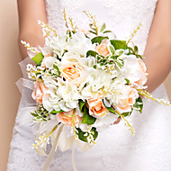 "Wedding Flowers Round Roses Bouquets Wedding Silk Orange 10.24""(Approx.26cm)"