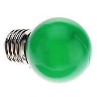 0.5W E26/E27 Lâmpada Redonda LED G45 7 LED Dip 50 lm Verde Decorativa AC 220-240 V