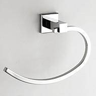 Brass Chrome Finish Towel Ring, L21cm x W14.5cm x H7cm