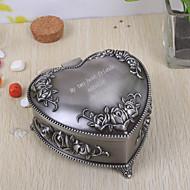 regalo de la dama de honor regalos caja de joyería personalizada tutania en forma de corazón de la vendimia