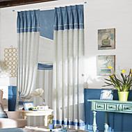 (Zwei Platten) Land blau elegant Tupfen Energiesparvorhang