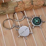 Personlig kompass Keychain - Set om 6