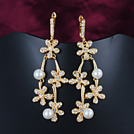 Amazing Brass Gold Plated with Cubic Zirconia Women's Chandelier Earrings(More Colors)