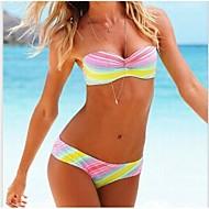 Kvinder Sexy Gorgeous Rainbow Color Bikini