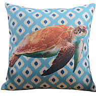 Cabeça decorativa fronha Super Cute pintados com cores vivas Sea Turtle