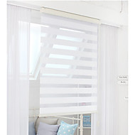 Graceful Euro White Solid Sheer Shade