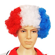 Korkiton Football Fans Party Wig (Hollanti lipun värit)