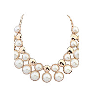 Delicate Alloy With Pearl Necklace