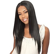 "18 ""100% Human Hair Natural Straight brasilianske Lace Front parykker"