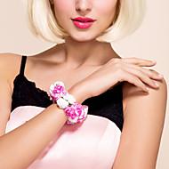"Wedding Flowers Round Wrist Corsages Wedding / Party/ Evening Satin Fuchsia 4.72""(Approx.12cm)"