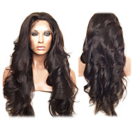 20inch peruvianske Virgin Human Hair Helblonde Parykker Natural Hairline