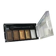 5 Paleta de Sombras Molhado Paleta da sombra Pó Normal Maquiagem Esfumada / Maquiagem para o Dia A Dia