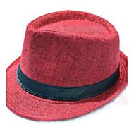 kadın moda İngiliz beyefendi keten fötr şapka