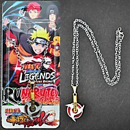 Jewelry Inspired by Naruto Sasuke Uchiha Anime Cosplay Accessories Necklace Red / Silver Alloy Male