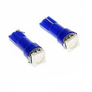Blå 2st T5 18 74 3-Chips 5050 SMD LED Bulb Car Instrumentpanel ljus