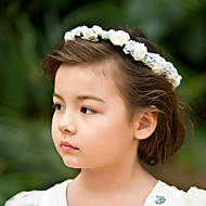 Women's/Flower Girl's Satin/Paper Headpiece - Wedding/Casual/Special Occasion Flowers