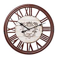 """18 """"מספרי H עץ האדומים רומיים שעון קיר"""