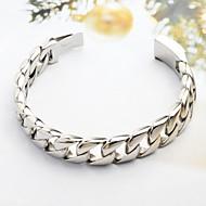 Pánské Řetězové & Ploché Náramky Nerez Jedinečný design minimalistický styl Módní Šperky Stříbrná Šperky 1ks