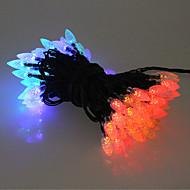 40カラフルな屋外用LEDソーラークリスマスライトクリスマスデコレーションランプギフト