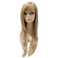 Capless Syntetisk blandet farve lange lige Natural Straight Wig