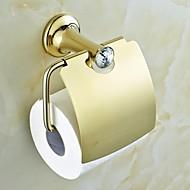 Moderne Golden Crystal Messing Toilet roll indehavere