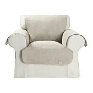 waterdichte microsuède beige solide kubus quilten fauteuil hoes