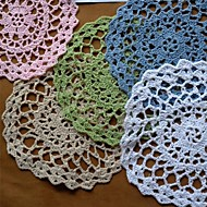 Conjunto de 12, crochê Doilies Coaster, 5 cores Avaliable