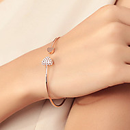 Cuff Bracelet Fashion Chic Lovely Gold Plated Rhinestone Heart Shape Bangle Pulseira Jewelry Prom Ornament Shixin® Jewelry  Christmas Gifts