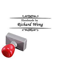 Gepersonaliseerde 33x63mm Wedding & Business Vine Stijl 2 Lijnen Rectangle Gegraveerde penetratie Signet Name Stamp (binnen 15 Letters)
