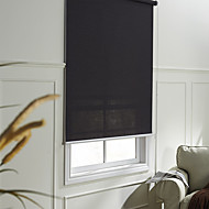 Moderne Fancy Black Translucent Solid Roller Shade