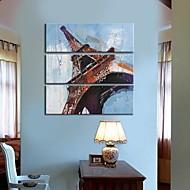 Su tela Art Landscape Torre Eiffel Set di 3