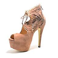 BC Sexy Suede Women's Stiletto Heel Peep Toe Sandals Shoes