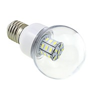 E27 4W LED 27x5730 SMD 350 ~ 400lm 5500 ~ 6000K bílé světlo Globe žárovky s čirým krytem (AC / DC 12V ~ 24V)