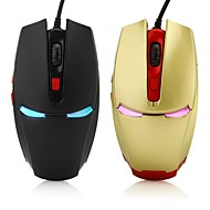 iron man 6d pelaamista optinen hiiri 2400dpi 7 johtanut värit siirtyvät automaattisesti