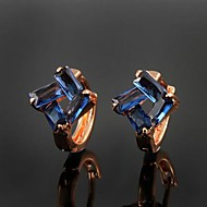 Great Brass Rose Gold Plated with Cubic Zirconia Girls' Earrings(More Colors)