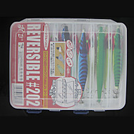 206*170*42MM Two Sides White Transparent Fishing Box Tackle Box