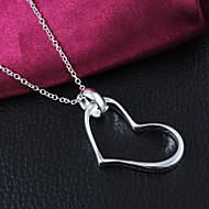 Fashion Brass Silver Plated Kvinders Halskæde