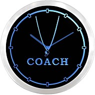 nc0980 Coach Sports Trainer Neon Sign LED Wall Clock