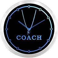 nc0980 Sport Coach Trainer Leuchtreklame LED Wanduhr