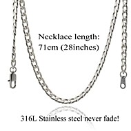 U7® Never Fade Men's Cuban Link Chain Necklace For Men 316L Stainless Steel 5MM,28Inches (71CM)