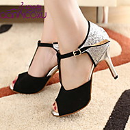 Fashion Customized Women's Sparkling Glitter Upper Dance Shoes(More Colors)