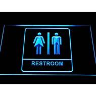 unisex mænd kvinder mand kvinde toilet toilet toilet neon lys tegn